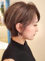 人気の小顔ひし形シルエットショート☆(髪型ショートヘア)