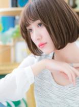 前下がりで美シルエット☆大人フレンチボブ(髪型ボブ)