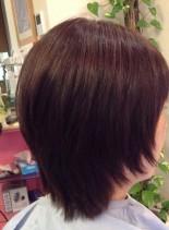 ショートレイヤー×縮毛矯正(髪型ショートヘア)