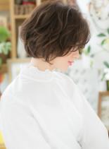 ハンサムなふんわりマッシュショートボブ(髪型ショートヘア)