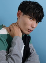 刈り上げモテマッシュショートパーマヘア(髪型メンズ)