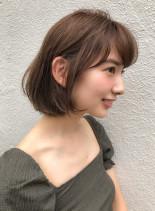 大人可愛い フェミニンボブ(髪型ボブ)