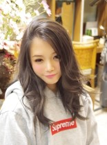 外国人風クールスタイル(髪型セミロング)