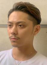 ワイルドアップバング(髪型メンズ)