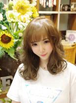 大人可愛い×ゆるふわミディ(髪型セミロング)