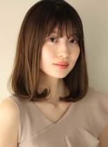 大人かわいいワンカールセミディ(髪型ミディアム)