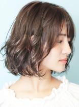 結べる☆石田ゆり子さん風パーマボブ(髪型ボブ)