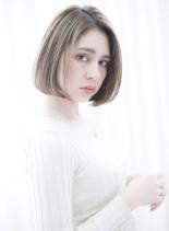 40代大人女性の為の美シルエットボブ(髪型ボブ)