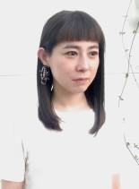 ライン感のあるミディアムスタイル(髪型セミロング)