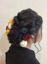 成人式スタイル(髪型セミロング)