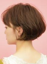 お手入れ簡単☆大人女性の丸みショートボブ(髪型ショートヘア)
