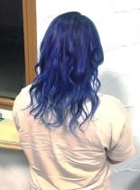 デニムカラー(髪型セミロング)