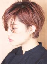 大人可愛い秋色ショートボブ★(髪型ショートヘア)