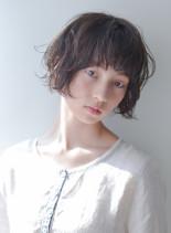 大人かわいい◇くせ毛風パーマショート(髪型ショートヘア)