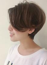 アンハサウェイ風ハンサムショート(髪型ショートヘア)