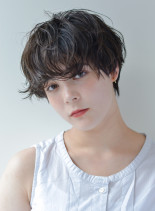 外国人くせ毛風◇無造作カールショート(髪型ショートヘア)