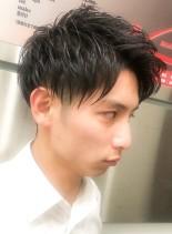 ビジネス×爽やかアップバング(髪型メンズ)