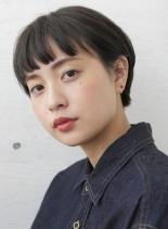 耳掛けショート(髪型ショートヘア)