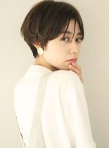 ふんわり丸みマッシュショート(髪型ショートヘア)
