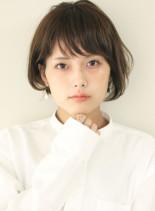 ふんわり丸みショートボブ(髪型ショートヘア)