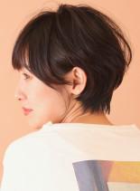 ニュアンスパーマならくびれショート☆(髪型ショートヘア)