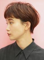手入れ簡単大人女性のマッシュショートヘア(髪型ベリーショート)