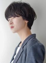 大人マッシュボブ×ルーズショートボブ(髪型ショートヘア)