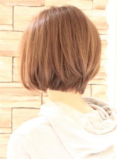 34才〜のひし形ナチュラルボブ(髪型ボブ)
