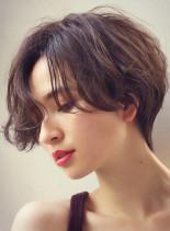 ハンサムショートウェーブ(髪型ショートヘア)