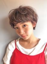 フラッフィーショート(髪型ショートヘア)