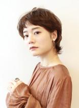 くせ毛風ショートヘア(髪型ショートヘア)