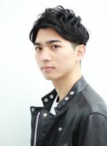 フェザーマッシュ×ソフトツーブロック(髪型メンズ)