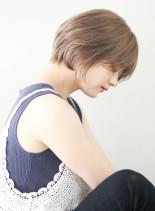 大人のひし形エアリーショートボブ(髪型ショートヘア)