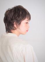 ソフトカールウルフ(髪型ショートヘア)
