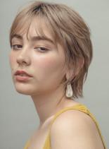 ベビーウルフショート(髪型ショートヘア)