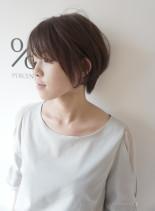 前髪長めの大人ショートスタイル(髪型ショートヘア)