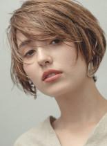 大人キレイなニュアンスショート(髪型ショートヘア)