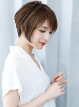 30代40代ひし形ボリュームショート(髪型ショートヘア)