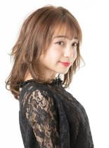 シースルーバング×モテレイヤー(髪型ミディアム)
