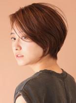 ふんわり長め☆丸みショート(髪型ショートヘア)