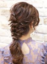編みおろしmix(髪型ロング)