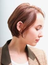 30代40代*大人クールなコンパクトボブ(髪型ショートヘア)