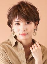 大人のひし形シルエットショート◇(髪型ショートヘア)