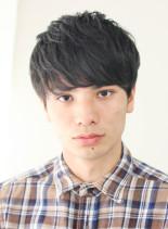 前髪長めのマッシュショート(髪型メンズ)