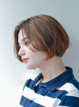 大人かわいい◇前下りボブ(髪型ショートヘア)