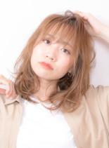 モテミディアムレイヤー(髪型ミディアム)