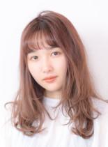 ゆるふわレイヤー(髪型セミロング)