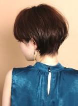 30代40代☆大人の柔らかショートボブ(髪型ショートヘア)