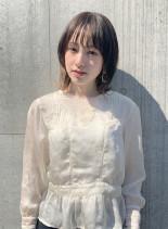 マッシュウルフ(髪型ミディアム)
