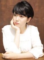 艶感ワンカールショート(髪型ショートヘア)